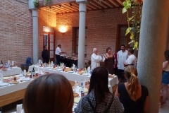 DINNER AND THE OFFICIAL RECEPTION IN THE ATRIUM OF THE CITY HALL, PRESENTATION OF THE SPANISH CUISINE